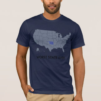 Oklahoma Worst State Ever T-Shirt