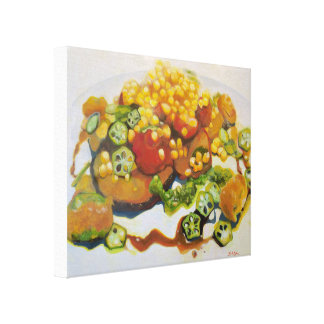 Okra & Corn Canvas Print