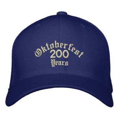 Oktoberfest 200 ans chapeau brodé