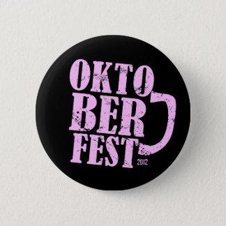 Oktoberfest 2012 - Pink distressed 2 Inch Round Button
