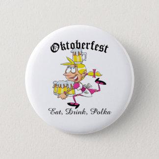 Oktoberfest Barmaid 2 Inch Round Button