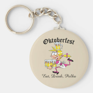 Oktoberfest Barmaid Keychain