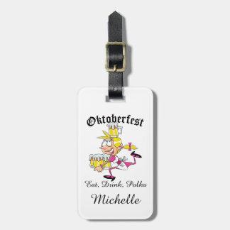 Oktoberfest Barmaid Luggage Tag