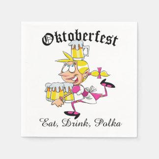 Oktoberfest Barmaid Paper Napkins