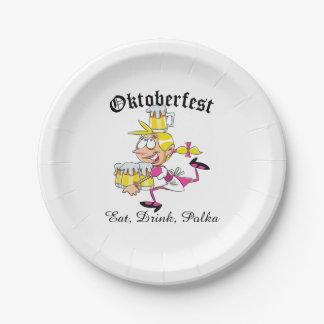 Oktoberfest Barmaid Paper Plate