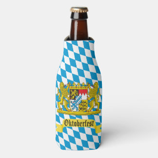 Oktoberfest Bavarian Crest Bottle Cooler