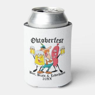 Oktoberfest Beer Brats & Lederhosen Can Cooler