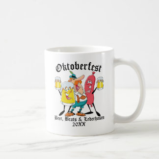 Oktoberfest Beer Brats & Lederhosen Coffee Mug