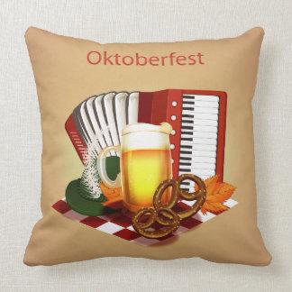 Oktoberfest Beer Design Throw Pillow