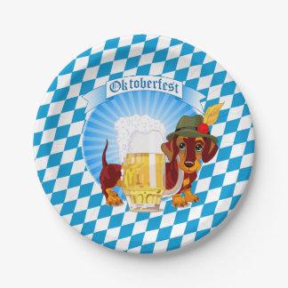 Oktoberfest Beer Hound 7 Inch Paper Plate