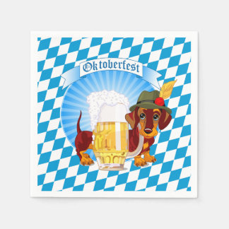 Oktoberfest Beer Hound Disposable Napkins