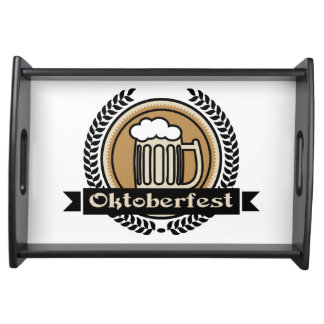 Oktoberfest Beer Icon Or Label Food Tray