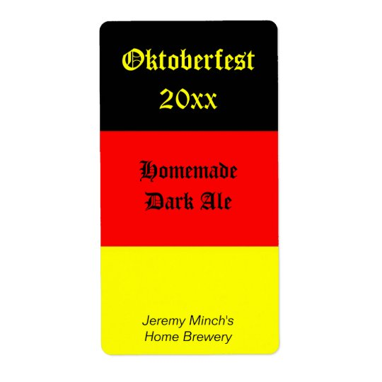 Oktoberfest Beer Label Shipping Label