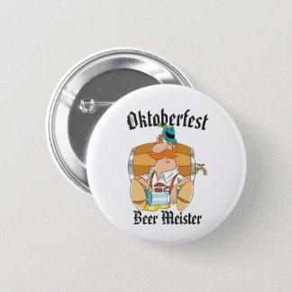 Oktoberfest Beer Meister 2 Inch Round Button