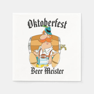 Oktoberfest Beer Meister Disposable Napkins