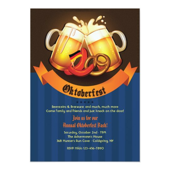 Oktoberfest Beer Mugs Invitation