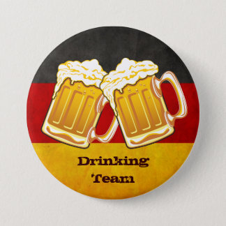 Oktoberfest Beer Party - Germany Drinking Team 3 Inch Round Button