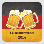 Oktoberfest Beer Party - Germany Drinking Team Square Stickers
