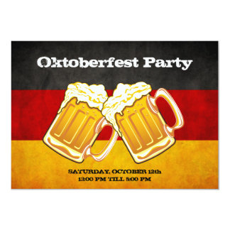 Oktoberfest Beer Party - Grunge Germany Flag Card