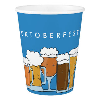 Oktoberfest Beerfest. Beer Collection. Paper Cup