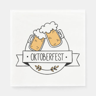 Oktoberfest Beerfest Disposable Napkins
