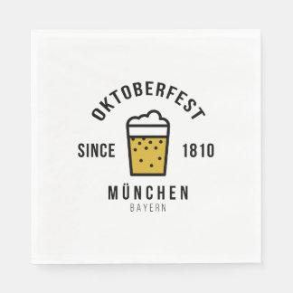 Oktoberfest Beerfest Festival Since 1810 Disposable Napkin