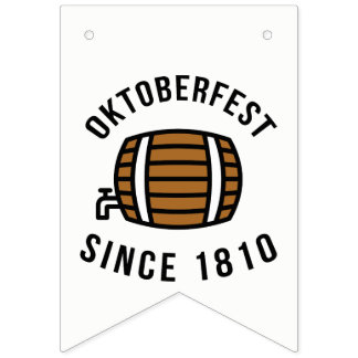 Oktoberfest Beerfest Festival Since 1910 Bunting Flags