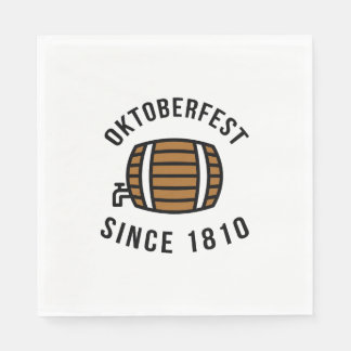 Oktoberfest Beerfest Festival Since 1910 Disposable Napkin