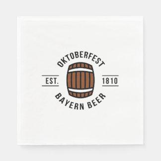 Oktoberfest Beerfest Festival Since 1910 Paper Napkin
