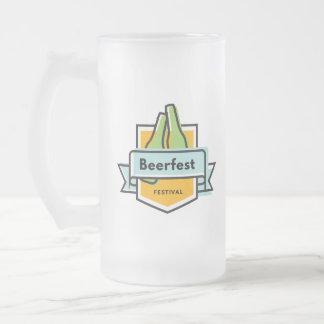 Oktoberfest Beerfest Frosted Glass Beer Mug