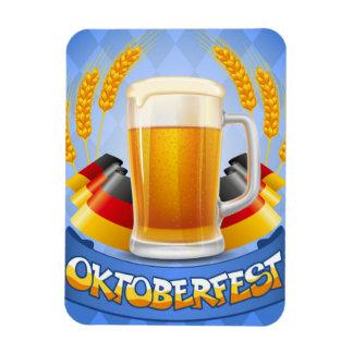 Oktoberfest Celebration Background With Rectangular Photo Magnet