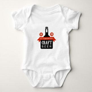 Oktoberfest Craft Beer Logo Design Template Baby Bodysuit