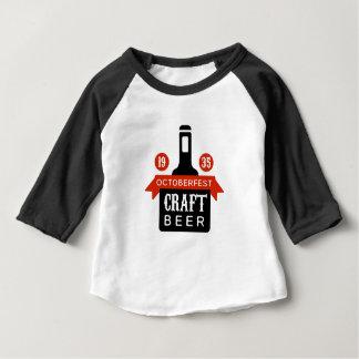 Oktoberfest Craft Beer Logo Design Template Baby T-Shirt
