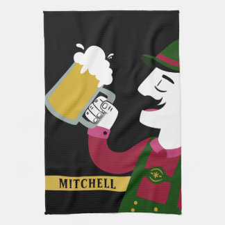 Oktoberfest custom name kitchen towel