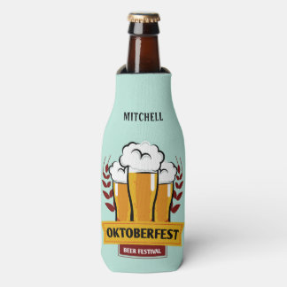 Oktoberfest custom name & text bottle cooler