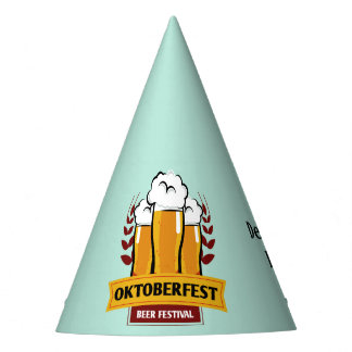 Oktoberfest custom name & text party hat