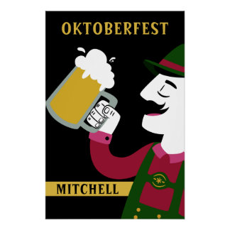 Oktoberfest custom name & text poster