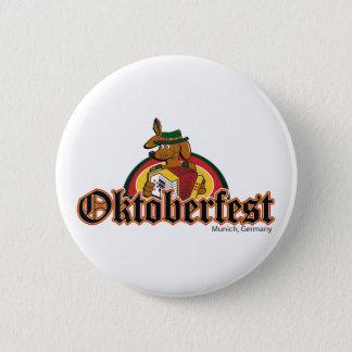 OKTOBERFEST Dachshund Playing Accordian 2 Inch Round Button