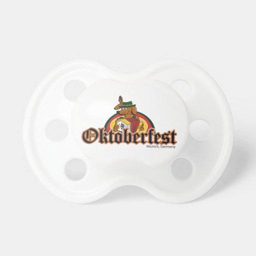 OKTOBERFEST Dachshund Playing Accordian Pacifiers