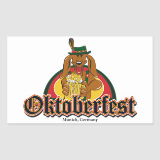 Oktoberfest Dachshund Rectangular Stickers