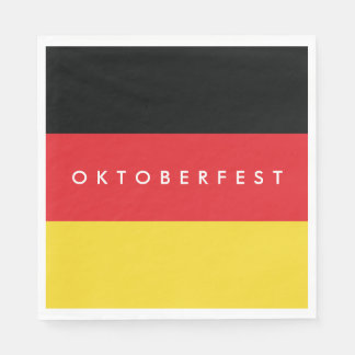 Oktoberfest. Flag of Germany. Disposable Napkin