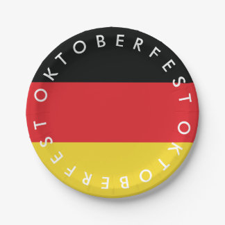 Oktoberfest. Flag of Germany. Paper Plate