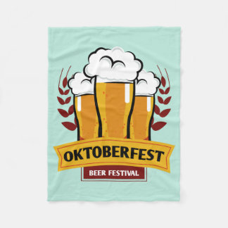 Oktoberfest fleece blanket