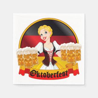 Oktoberfest German Bar Maid Disposable Napkin