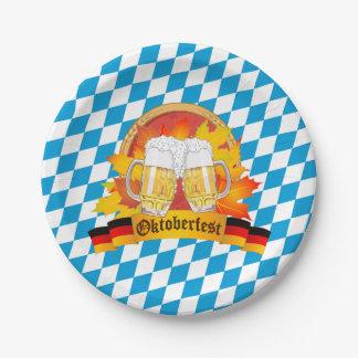 Oktoberfest German Beer Festival Paper Plate