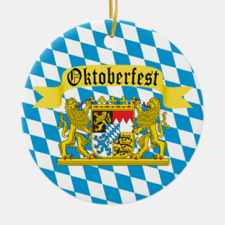 Oktoberfest German Bier Festival Ceramic Ornament