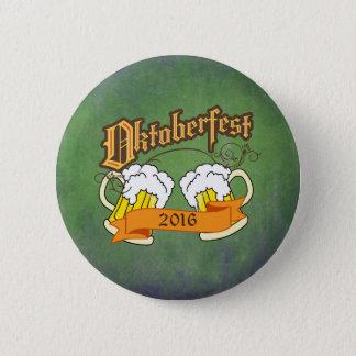 Oktoberfest German Festival Beer Steins Typography 2 Inch Round Button