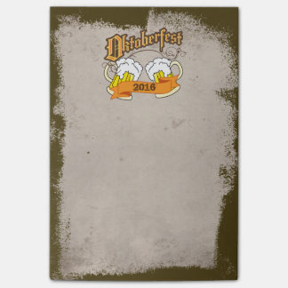 Oktoberfest German Festival Beer Steins Typography Post-it Notes