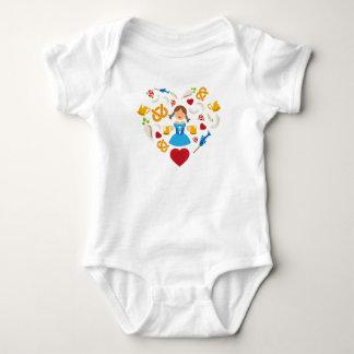 Oktoberfest heart baby bodysuit
