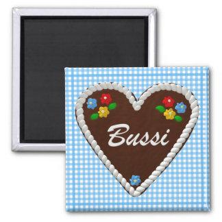 "Oktoberfest Heart ""Bussi"" Square Magnet"